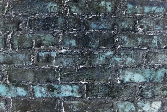 Abstract old blue grunge wall. Textured background.