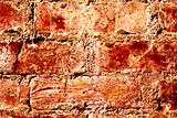 Red wall made of bricks. Abstract Background.