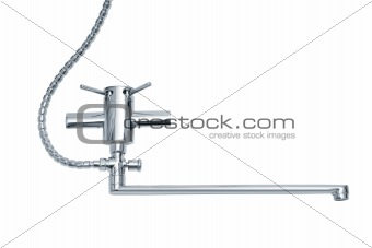 modern metal faucet