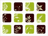 beautiful flourish pattern icons