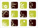 abstract ecology pattern icons