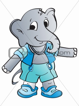 grey elephant illustration