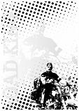 motocycle dots poster background