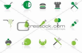 Food & Restaurant icons  green