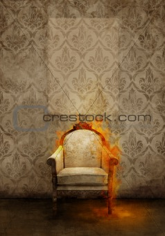throne in flames