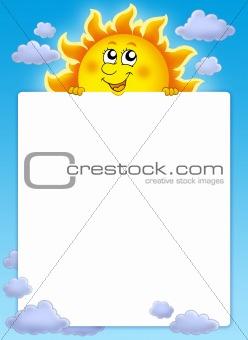 Frame with cute lurking Sun