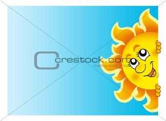 Lurking Sun on sky