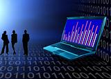 Abstract business and information technologies background