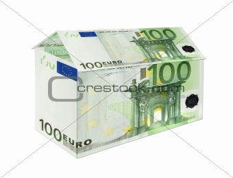 100 Euro banknotes House