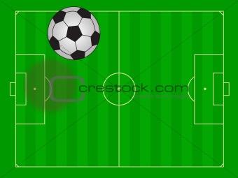 Football field illustration