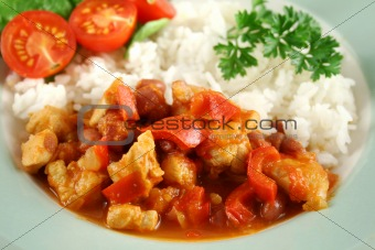 Chicken And Lentil Stew With Rice 3