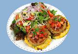 Chicken Patties And Salad