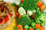 Chicken Patty With Vegetables