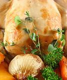 Roast Chicken With Garnish