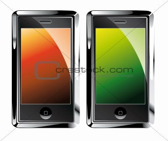 Isolated Touch Screen Smartphones