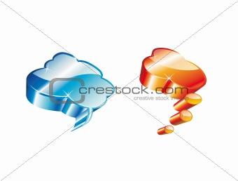 3D Comic Clouds