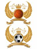 Vector heraldic sport pattern.