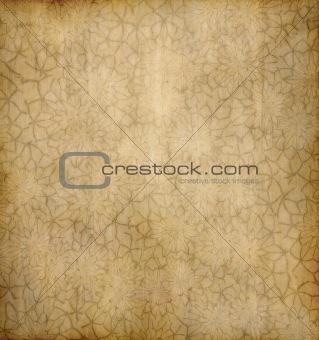 old floral paper background
