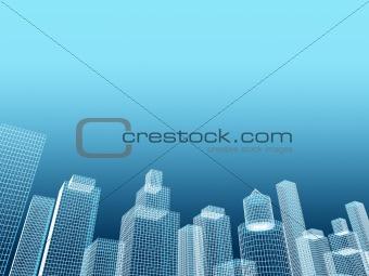 corporate building real estate illustration