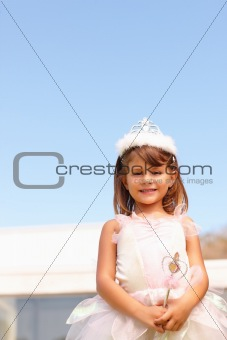 Cute little girl dressed as fairy