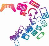 electronic entertainment illustration