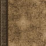 Brown layered grunge scrapbook background with braid border