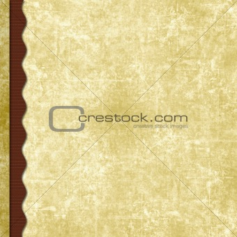 Layered old paper scrapbook background with wavy border