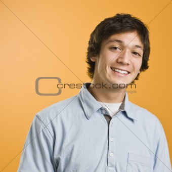 Attractive male smiling