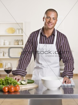 Attractive male chef