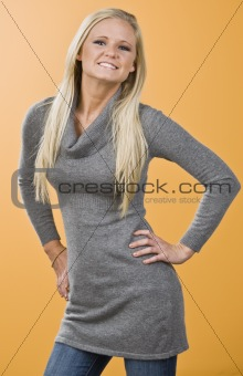 Attractive blond posing