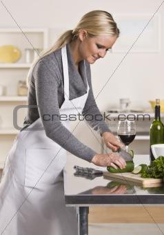 Attractive blond slicing cucumber.