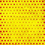 Yellow background with red dote