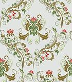 Seamless vegetative pattern
