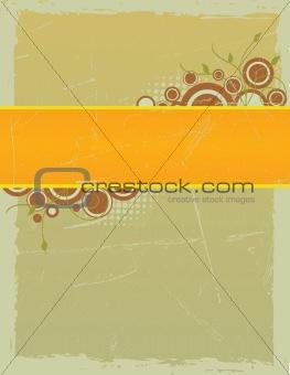 Grungy Framed Floral Vector Background