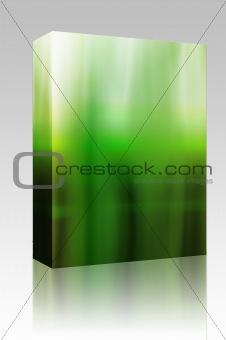 Glowing aura box package