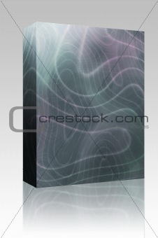 Abstract wavy lines box package