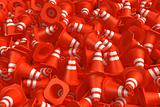 Pile of traffic cones