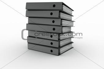 Ring binder stack