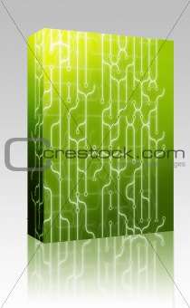 Abstract circuitry box package