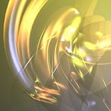 Flowing glowing abstract
