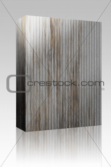 Corrugated metal box package
