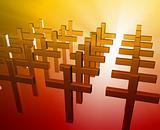 Many christian crosses