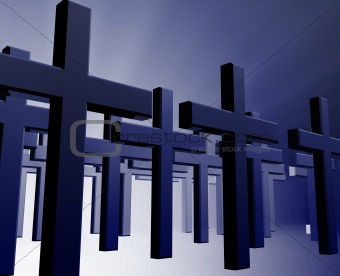 Many christian crosses