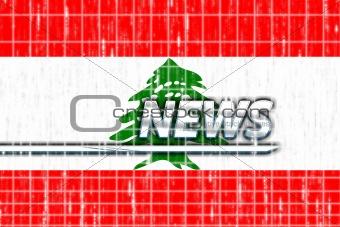 Flag of Lebanon news