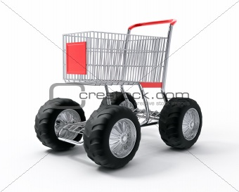 Turbo speed shopping cart