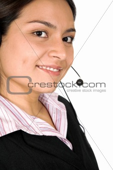 beautiful business customer service woman