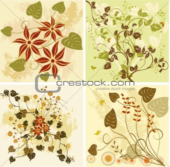 Floral Backgrounds - vector