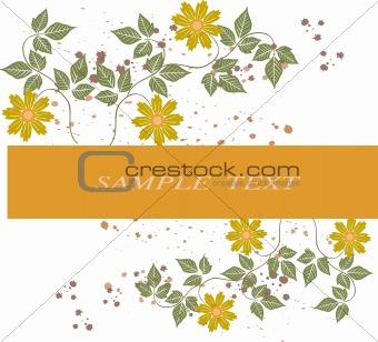 Floral  frame  - vector