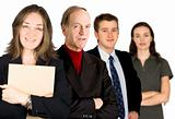 female entrepreneur and her business team