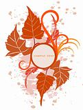 Floral Background  with frame - vector